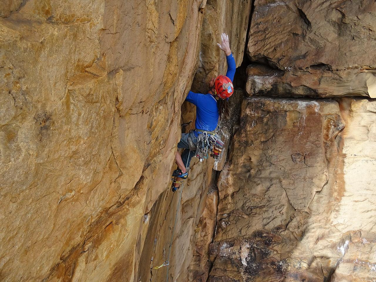 climbing with Andy Court