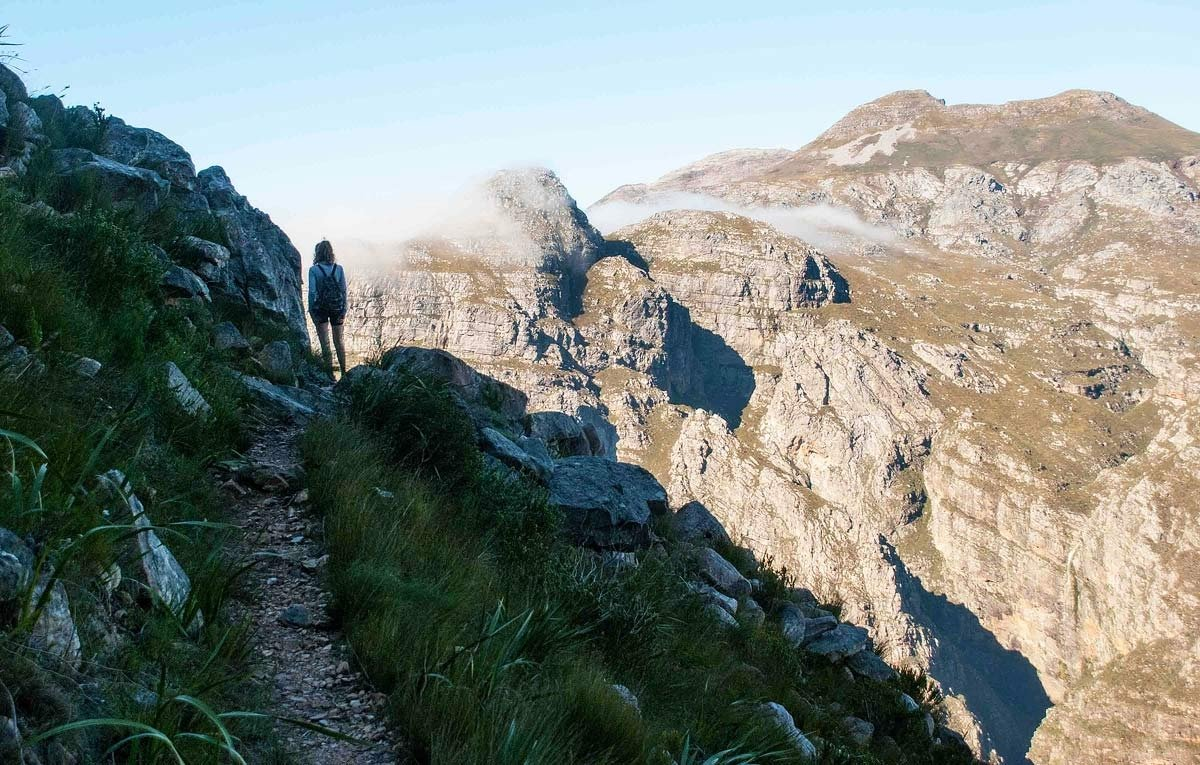 Panorama Route - Sheer cliff and valleys -  Jonkershoek Hike South Africa